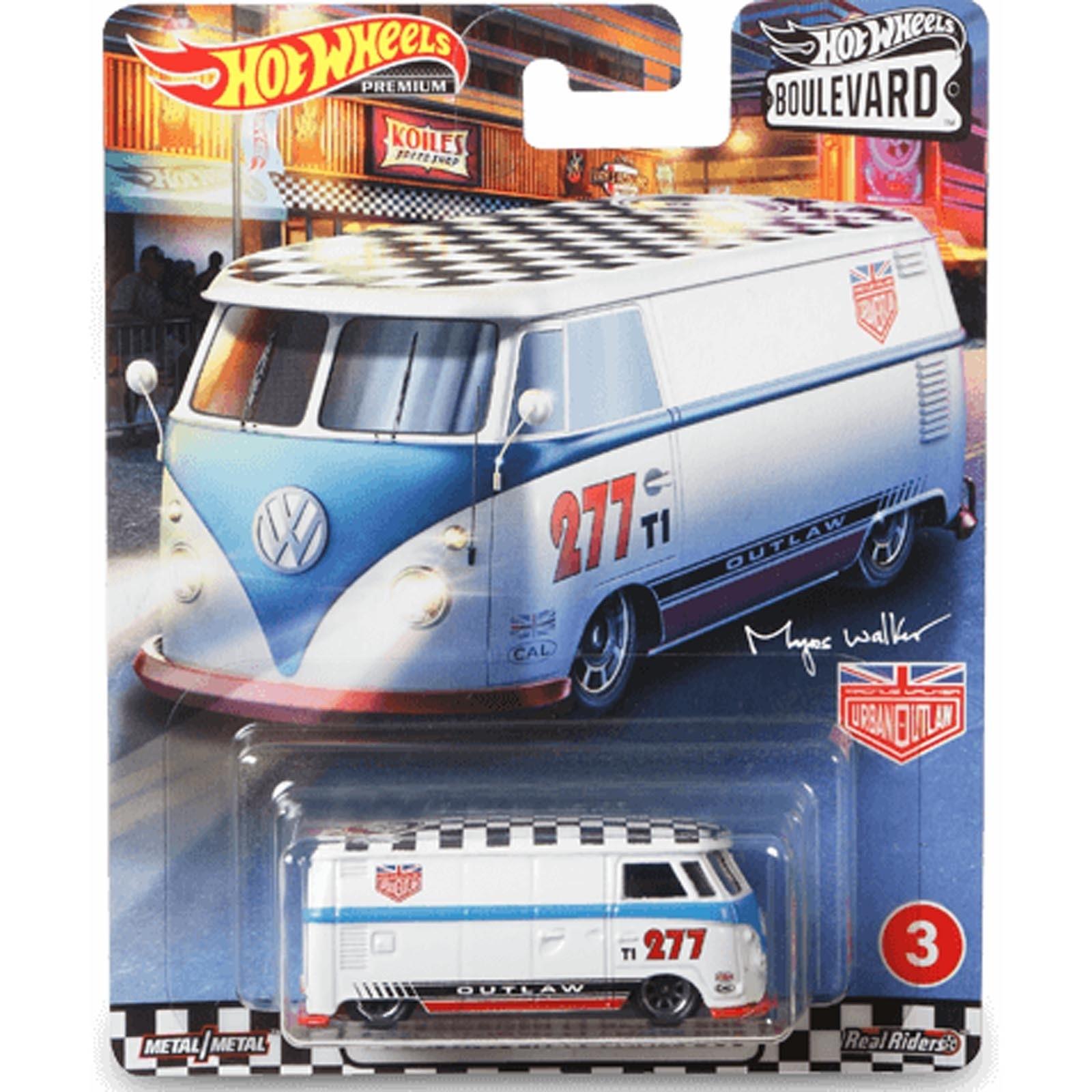 Hot Wheels Volkswagen T1 Panel Bus Kombi Boulevard Gjt70 Escala Miniaturas By Mão Na Roda 4x4