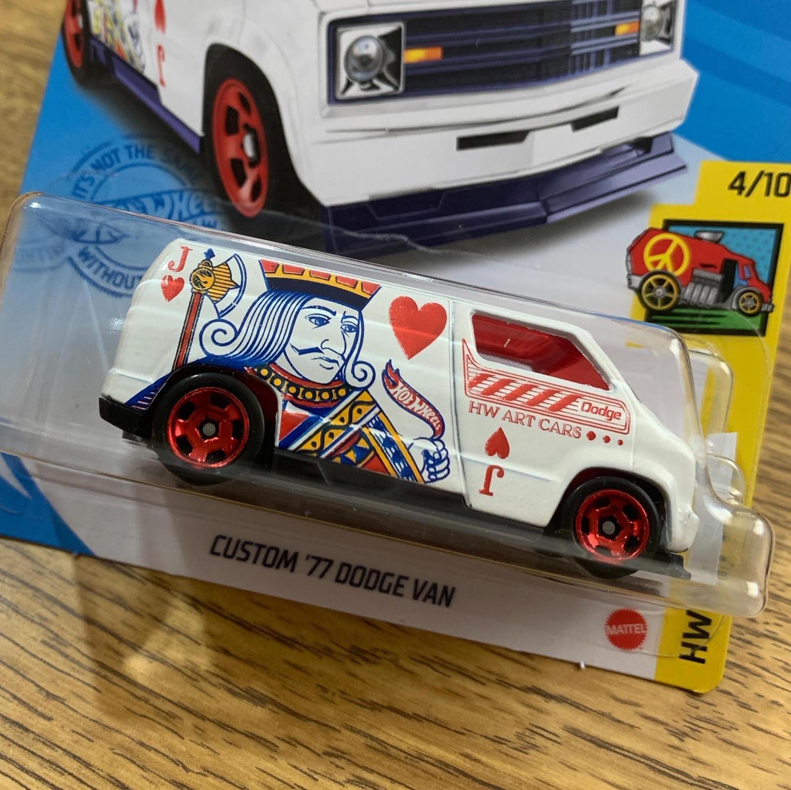 Hot Wheels Custom 77 Dodge Van T Hunt Gtc88 Escala Miniaturas By Mao Na Roda 4x4